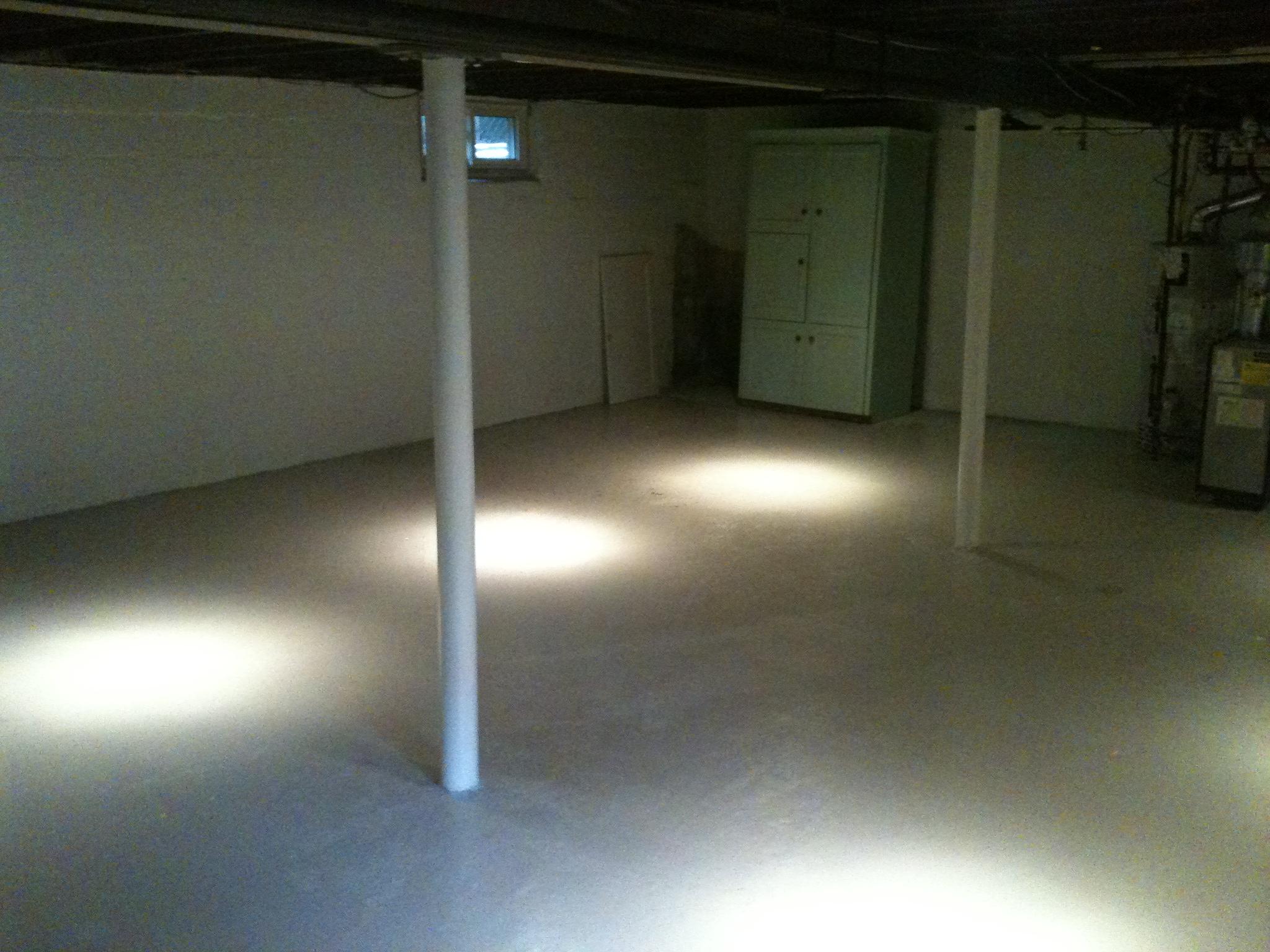 new basement pot lights add much needed lighting